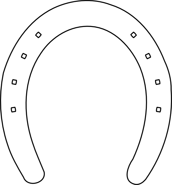 horseshoe printable horseshoe template i used free blockpostercom to print horseshoe printable