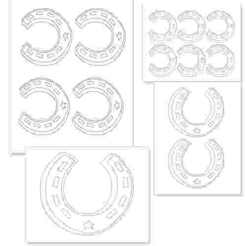 horseshoe printable template horseshoe pattern use the printable outline for crafts horseshoe template printable