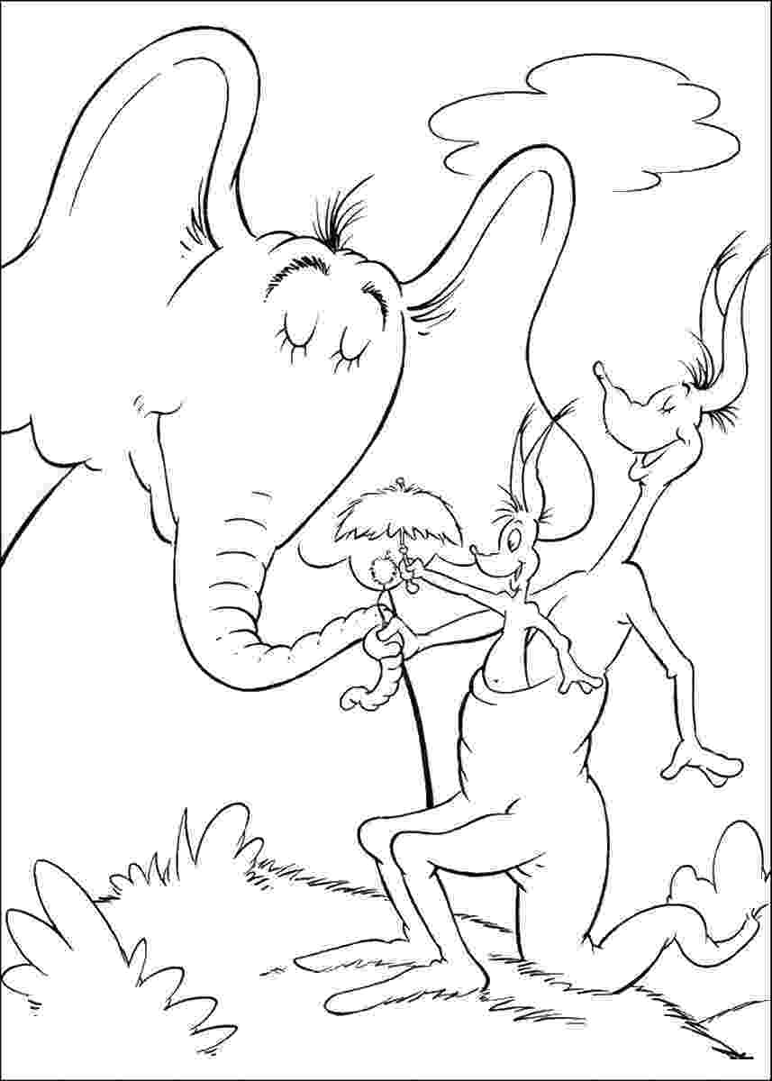 horton hears a who coloring pages image result for horton hears a who 4 h dr seuss pages hears horton who coloring a