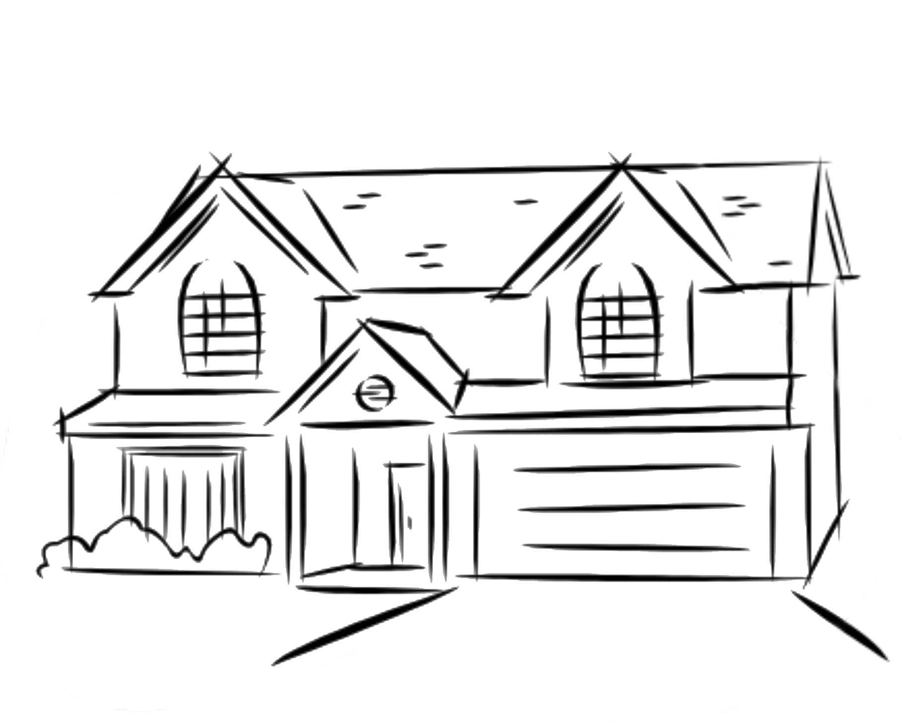 how to sketch a house drawing a house 1 clipart etc house sketch a to how