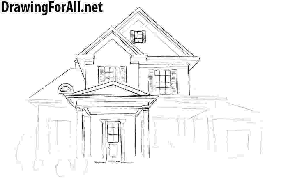 how to sketch a house how to draw a house for beginners drawingforallnet to house a sketch how