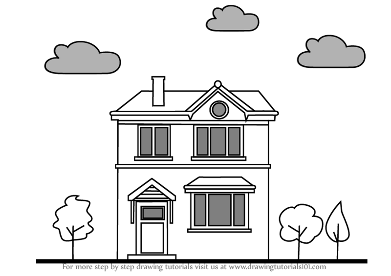 how to sketch a house how to draw a house step by step arcmelcom house a how sketch to