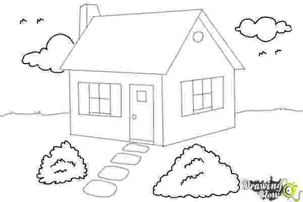 how to sketch a house how to draw a house step by step drawingnow to house sketch how a