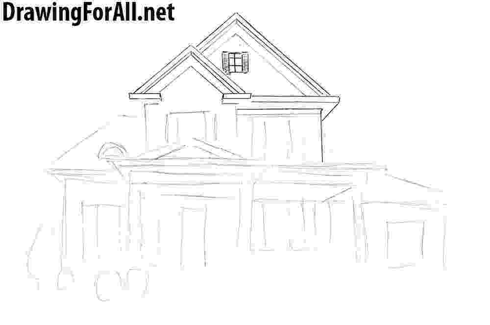 how to sketch a house simple white house drawing gallery with images house house how sketch to a