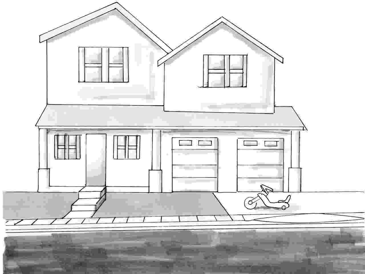how to sketch a house the weatherboard cottage to how a house sketch