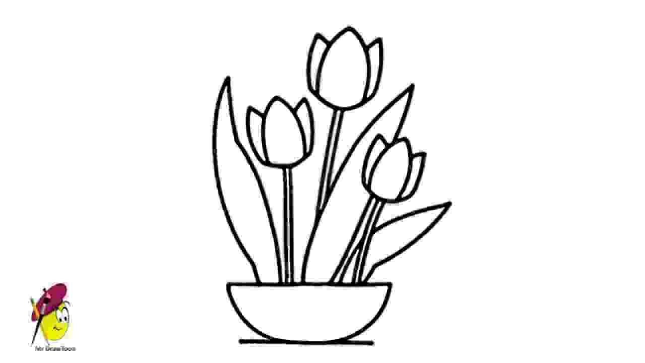how to sketch a tulip how to draw a tulip for beginners best drawing tutorial how to a sketch tulip