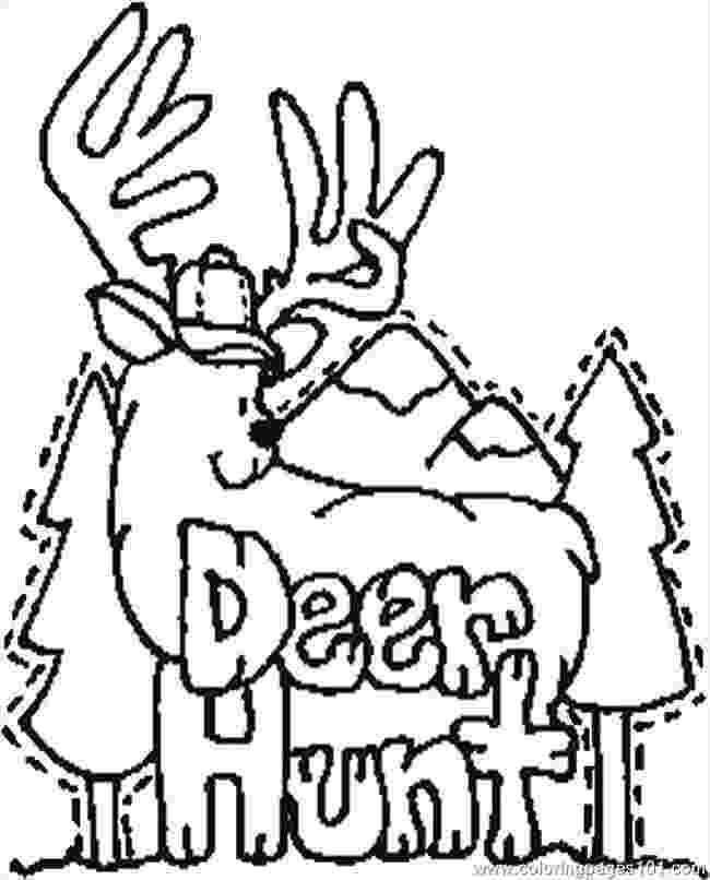 hunting coloring pictures buck coloring pages clipart best pictures coloring hunting