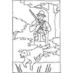 hunting coloring pictures hunter with gun and dog coloring sheet hunting coloring pictures