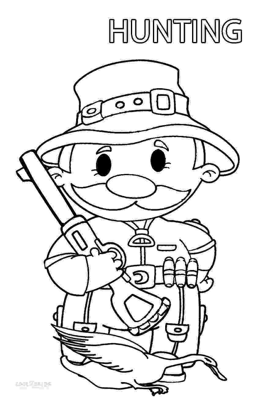 hunting coloring pictures printable hunting coloring pages for kids cool2bkids hunting pictures coloring 1 1