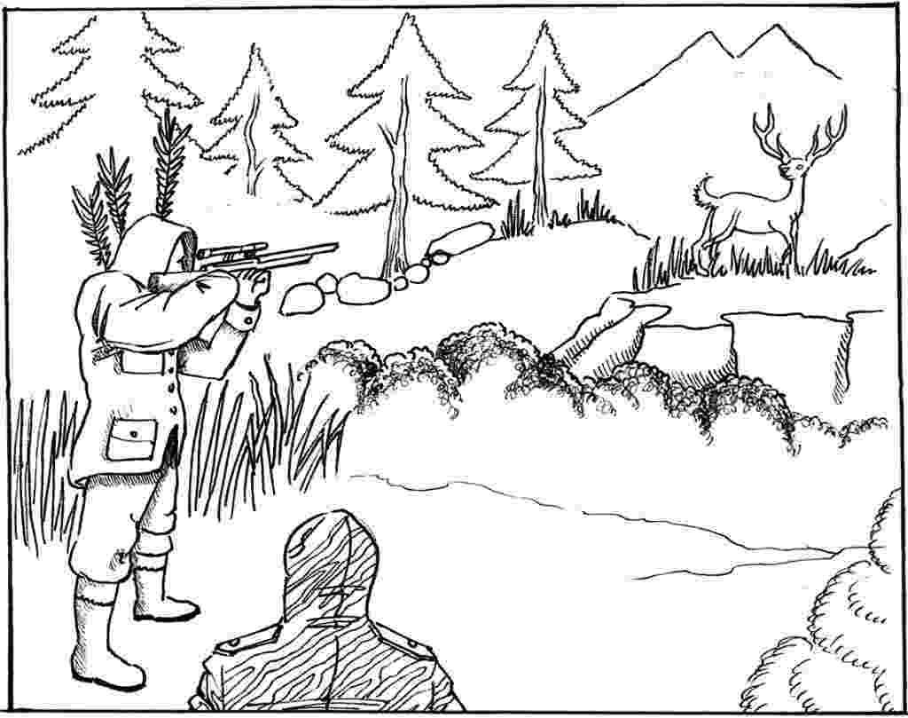 hunting coloring sheets free printable hunting coloring pages for kids coloring hunting sheets