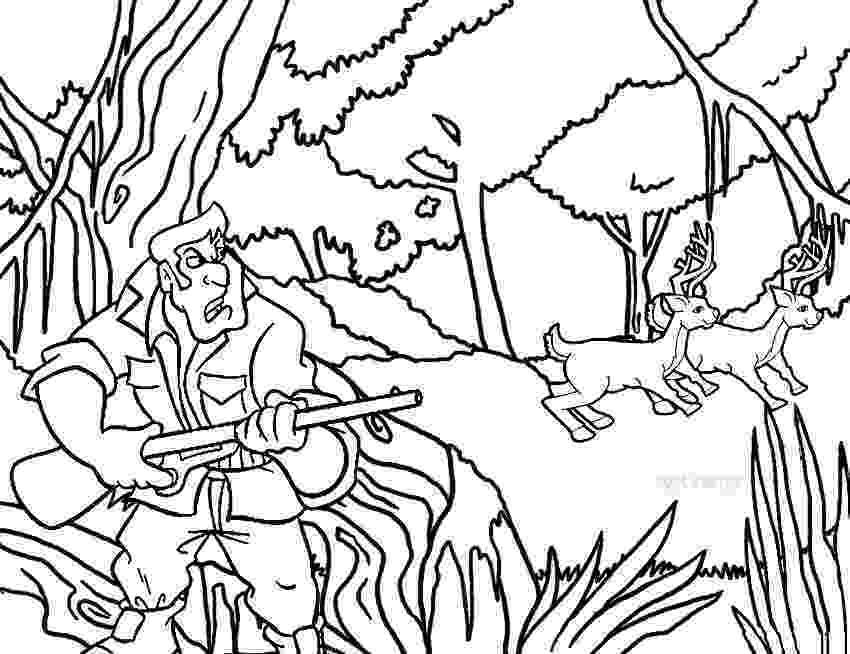 hunting coloring sheets printable hunting coloring pages for kids cool2bkids coloring hunting sheets