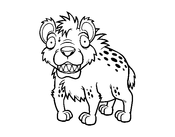 hyena coloring pages a hyena coloring page coloringcrewcom pages coloring hyena