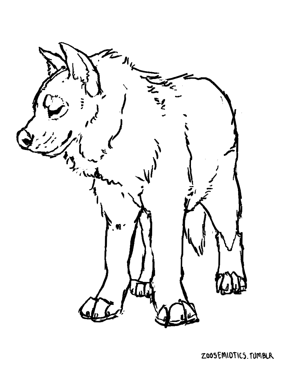 hyena coloring pages animal printable scary hyena coloring sheet hyena pages coloring