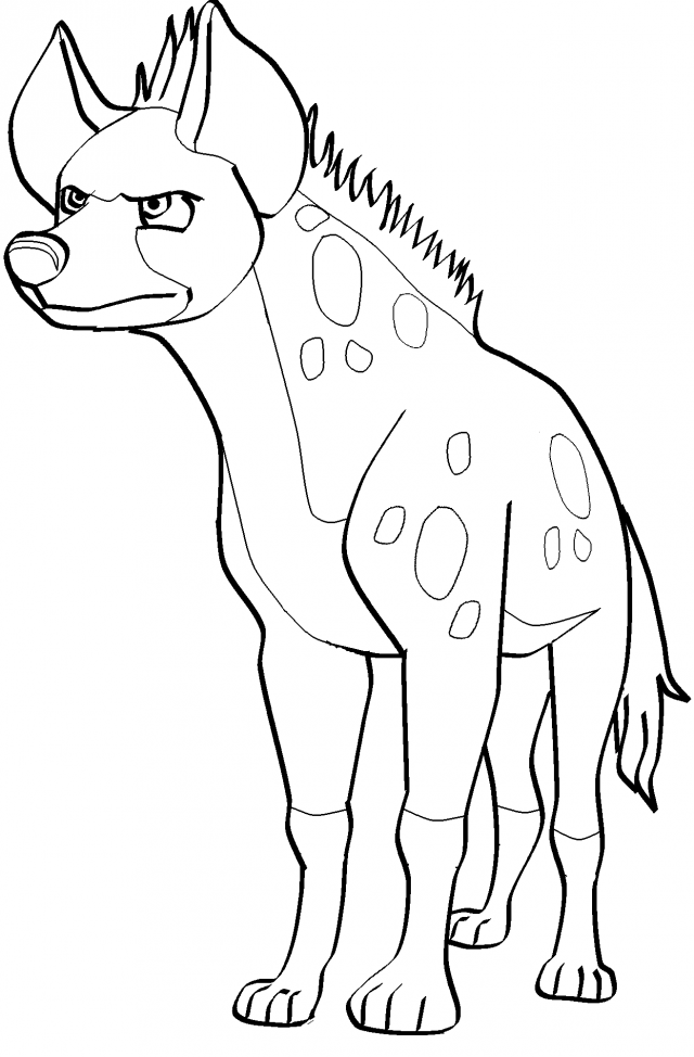 hyena coloring pages striped hyena coloring pages get coloring pages coloring hyena pages