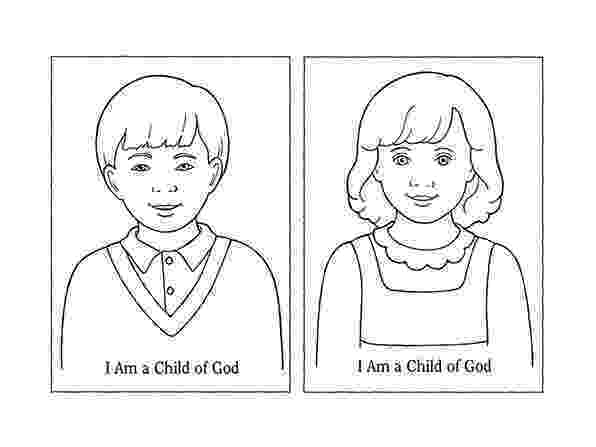 i am a child of god coloring page i can live with my father in heaven again liahona am a i of page child god coloring