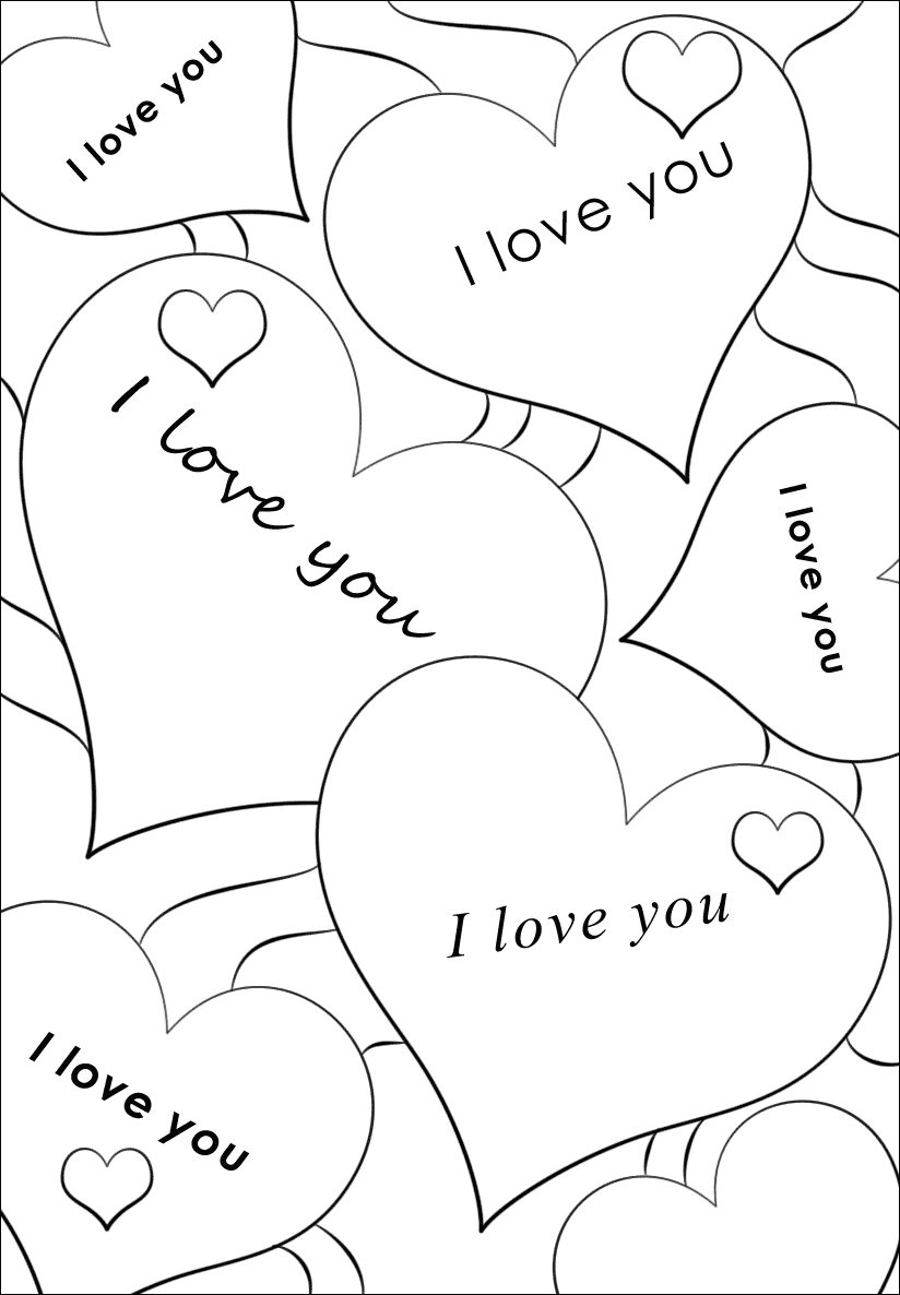 i love you coloring pictures valentine39s day card quoti love youquot coloring page free coloring love i you pictures