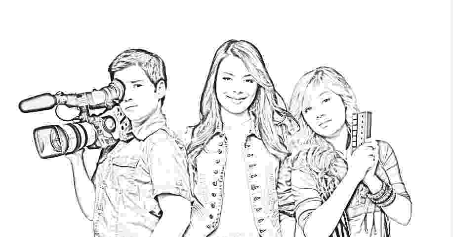 icarly coloring pages to print carly von icarly disney channel girl human coloring page print pages to coloring icarly