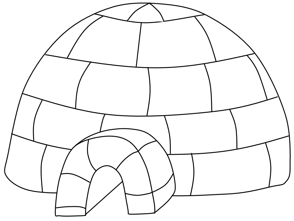 igloo coloring page best igloo clipart 11304 clipartioncom igloo page coloring