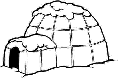 igloo coloring page pictures of winter activities clipartsco page coloring igloo