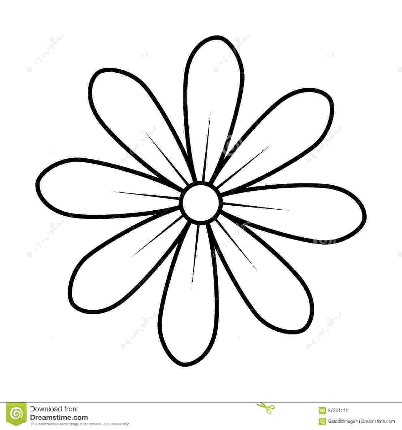 imagenes de margaritas para colorear monochrome contour of daisy flower icon floral design de para imagenes colorear margaritas