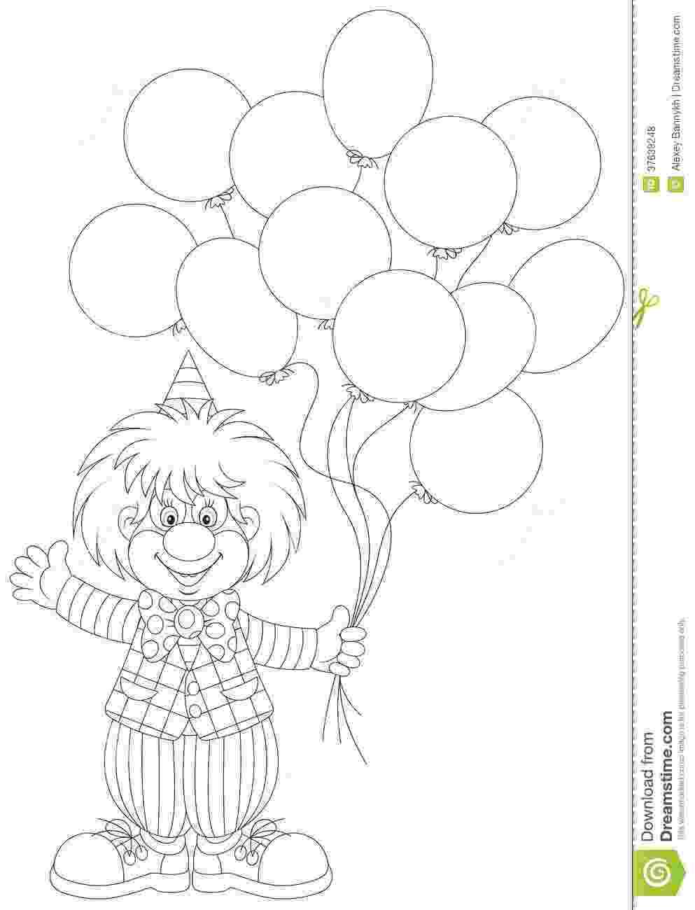 imagenes de payasos con globos para colorear imagenes de payasos con globos para colorear imagui con globos imagenes payasos para colorear de