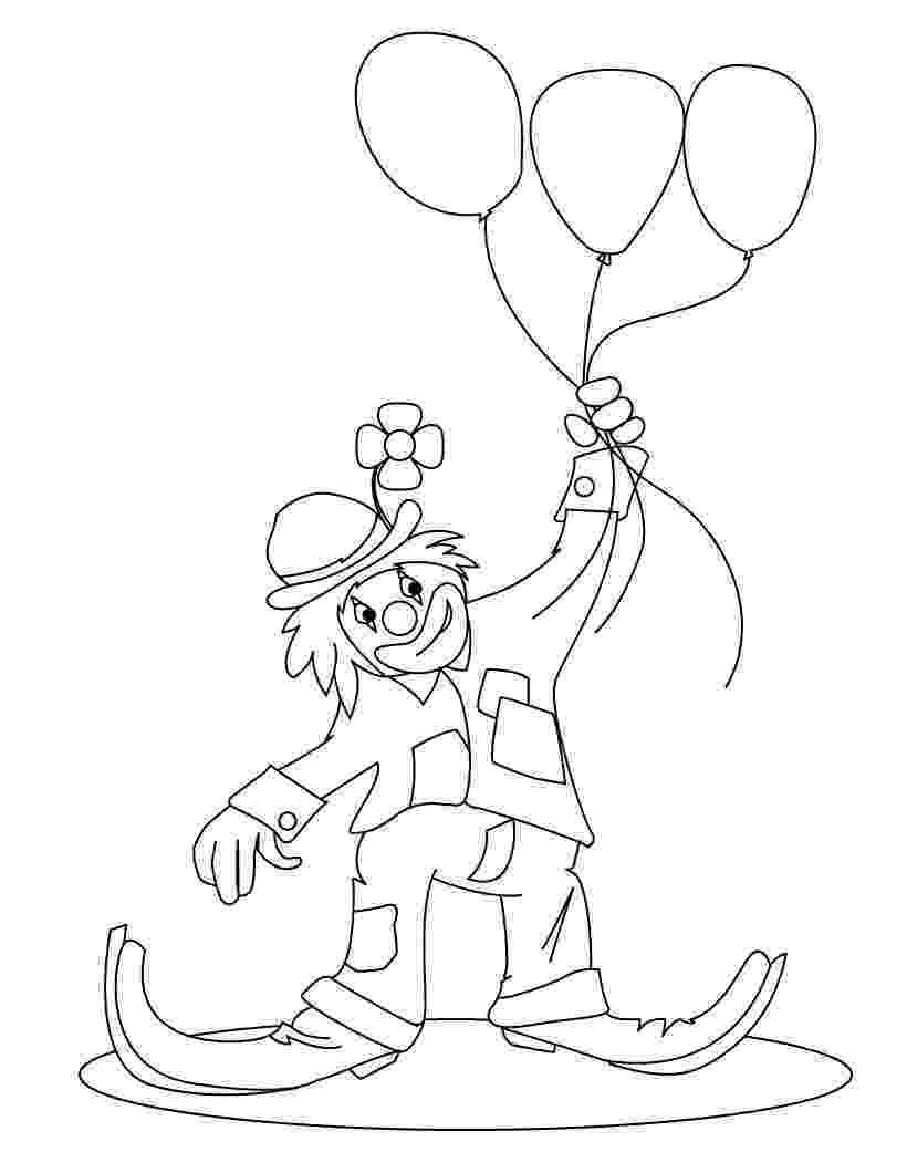 imagenes de payasos con globos para colorear láminas de payaso para colorear colorearrr colorear imagenes payasos con para globos de