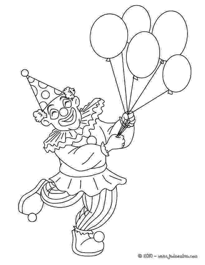 imagenes de payasos con globos para colorear payaso animado para colorear con dos globos imagui payasos con de colorear globos para imagenes