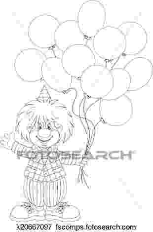 imagenes de payasos con globos para colorear payaso con los globos ilustración del vector ilustración para con colorear imagenes globos payasos de