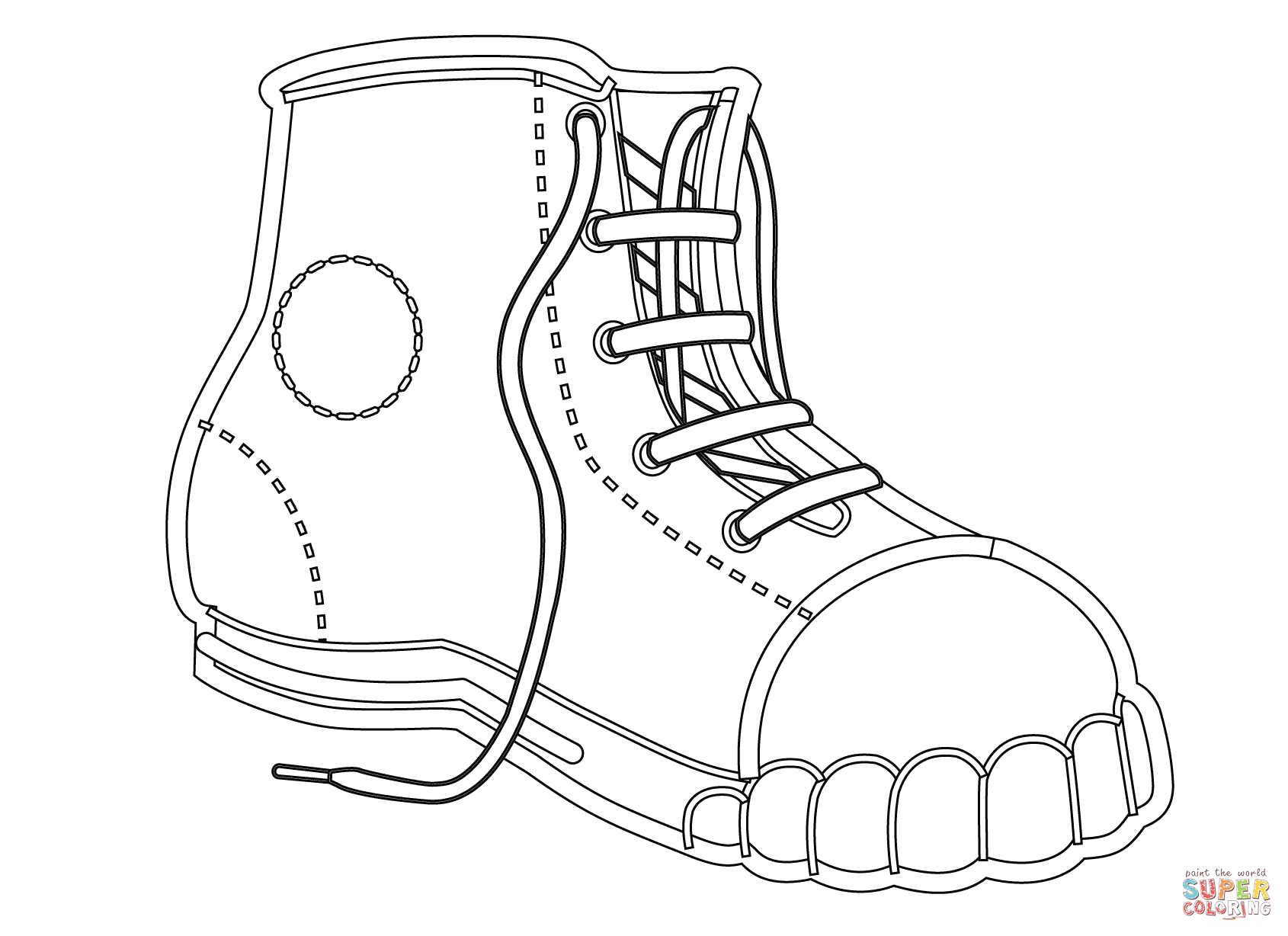 images of shoes to color shoe coloring pages to download and print for free of images shoes color to