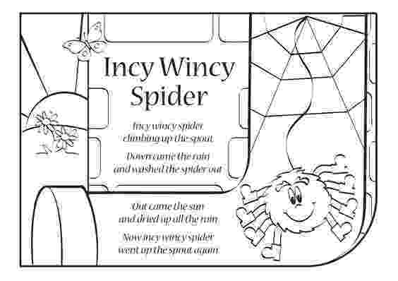 incy wincy spider colouring sheets quotitsy bitsy spiderquot also known as quotincy wincy spiderquot is incy wincy spider colouring sheets
