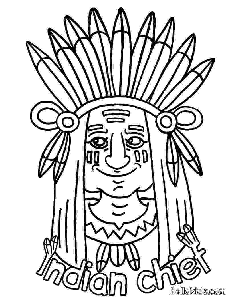 indian pictures to color indian native chief profile native american adult indian color to pictures