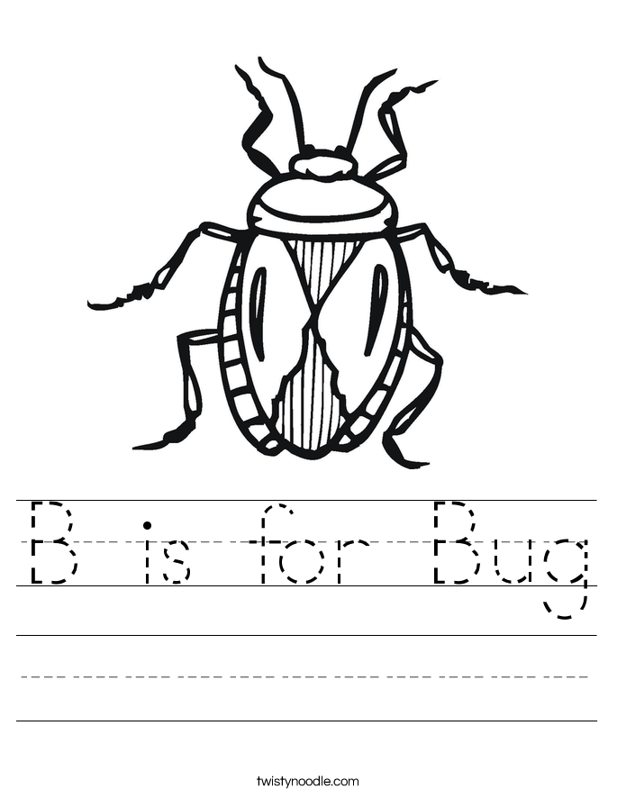 insect coloring pages preschool b is for bug worksheet twisty noodle coloring insect pages preschool