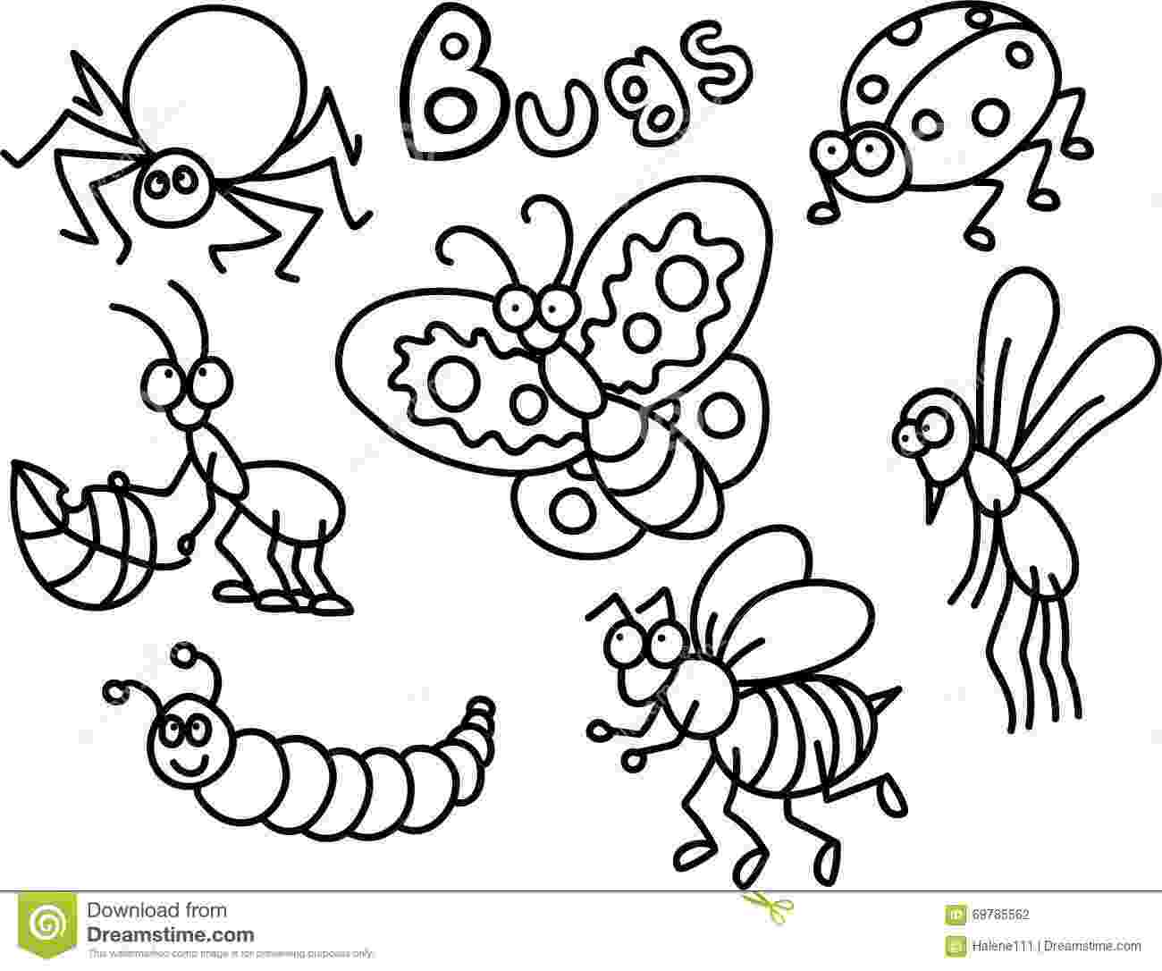 insects for coloring printable bug coloring pages for kids cool2bkids coloring for insects