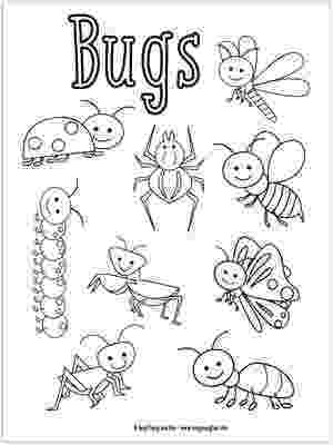 insects for coloring printable bug coloring pages for kids cool2bkids insects for coloring