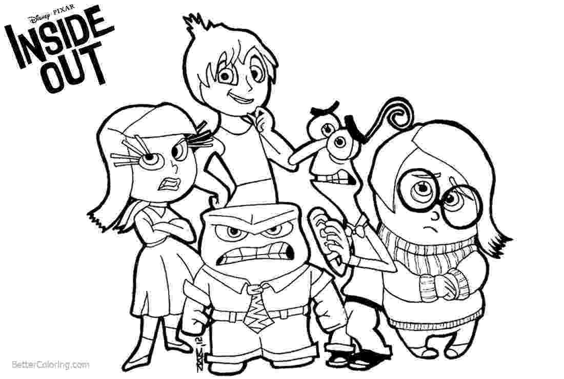 inside out coloring pages all characters disney inside out coloring pages characters free out all characters inside pages coloring