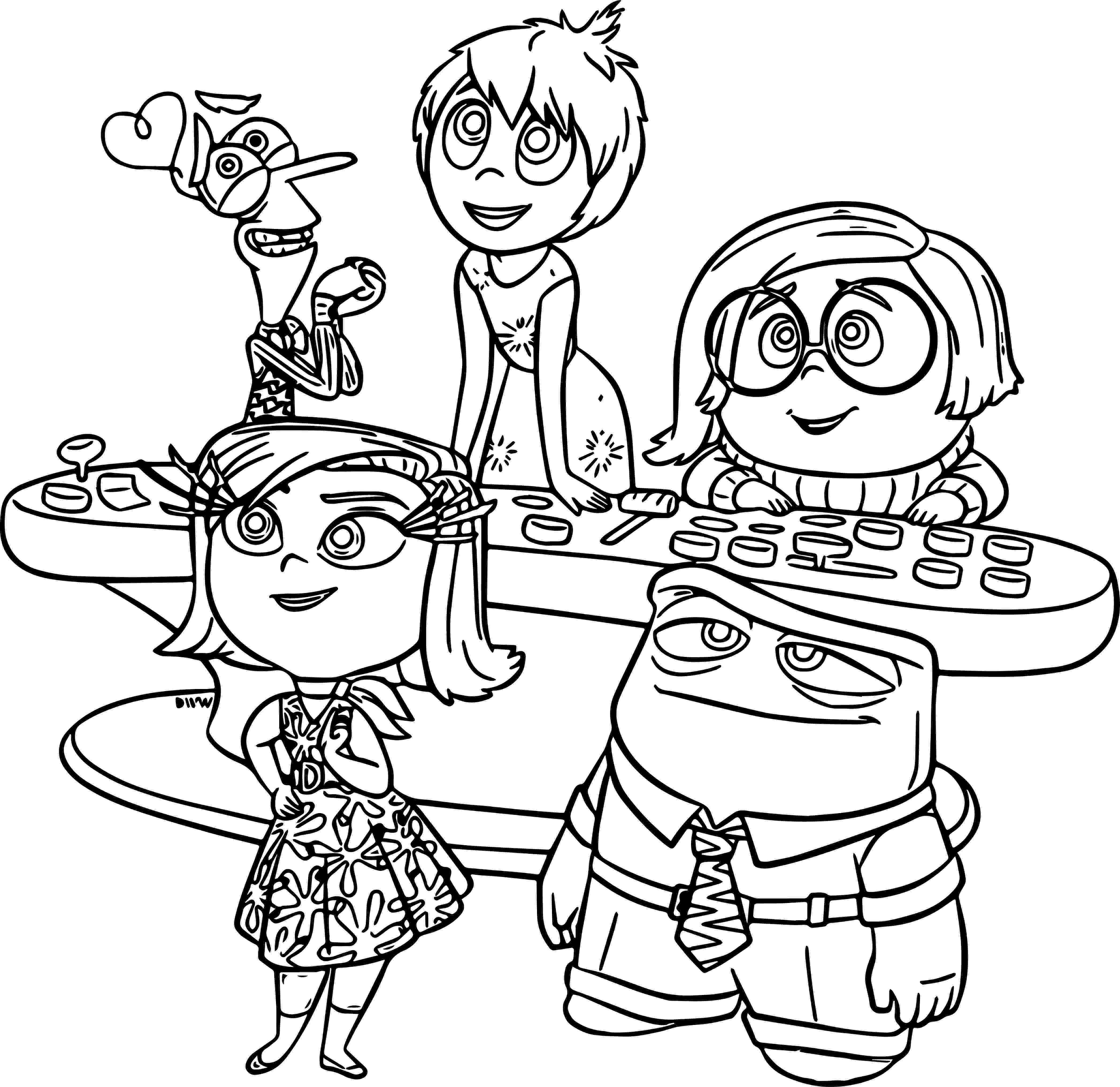 inside out coloring pages all characters inside out coloring pages best coloring pages for kids all inside out pages characters coloring