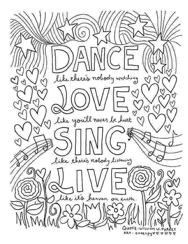 inspirational quotes colouring pages positive quotes coloring pages quotesgram quotes pages colouring inspirational