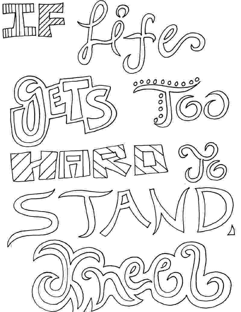 inspirational quotes colouring pages quote coloring pages doodle art alley quotes pages inspirational colouring