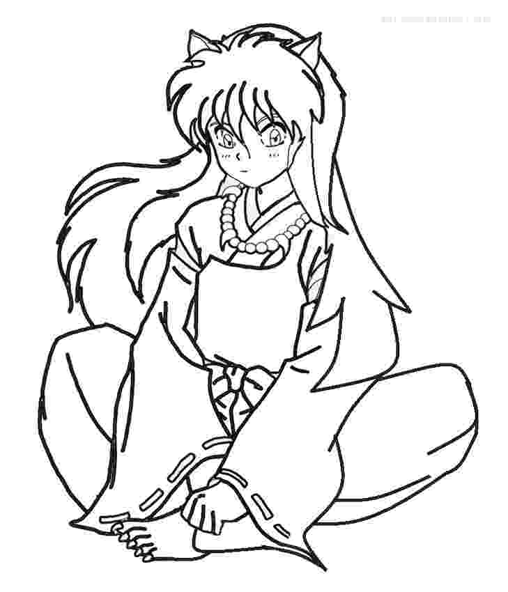 inuyasha coloring pages printable inuyasha coloring pages for kids cool2bkids coloring pages inuyasha