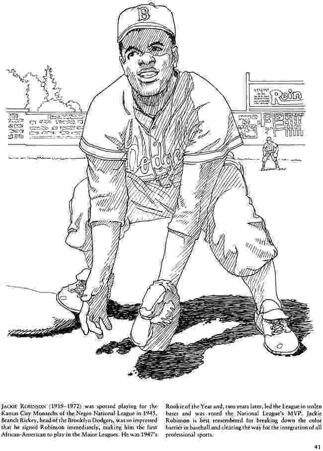 jackie robinson coloring page sportspeople jackie robinson coloring pages 24 robinson page jackie coloring