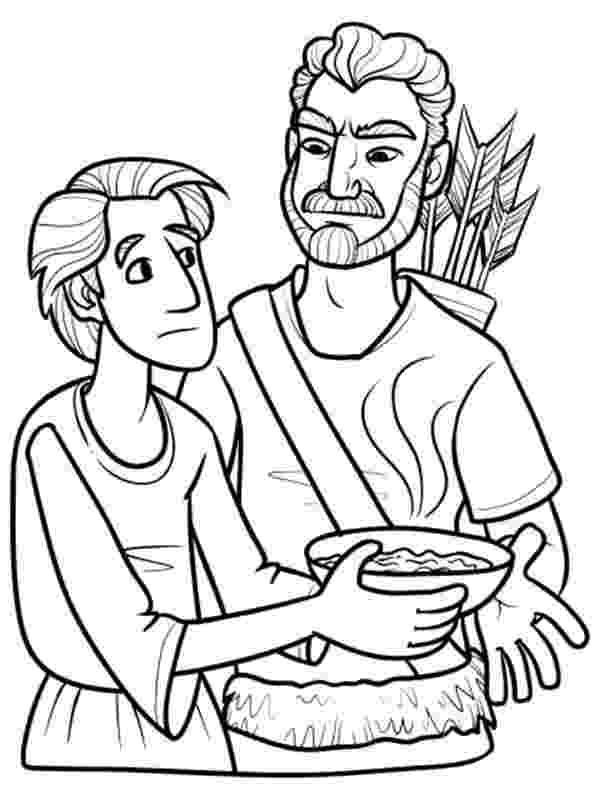 jacob and esau coloring pages jacob bring food to isaac in in jacob and esau coloring and pages esau jacob coloring