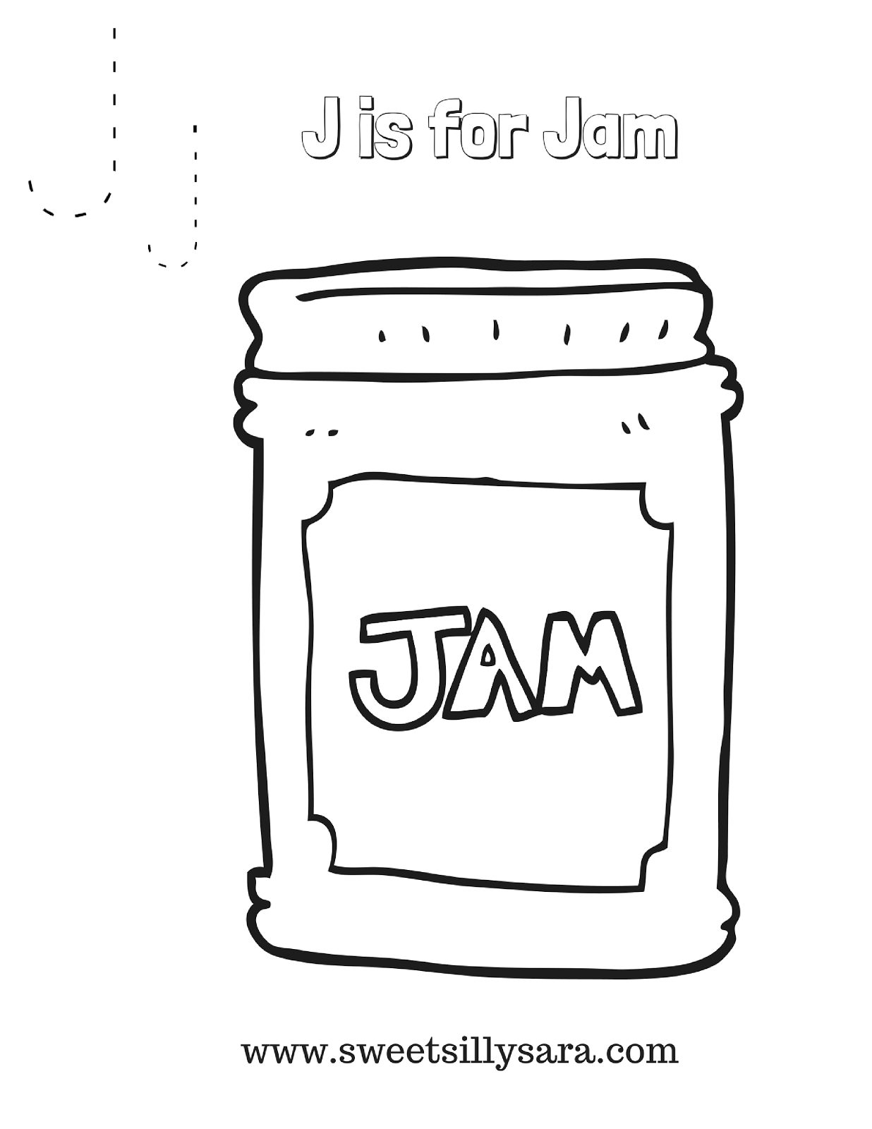 jam coloring pages crafting reality with sara j is for jam coloring page jam coloring pages