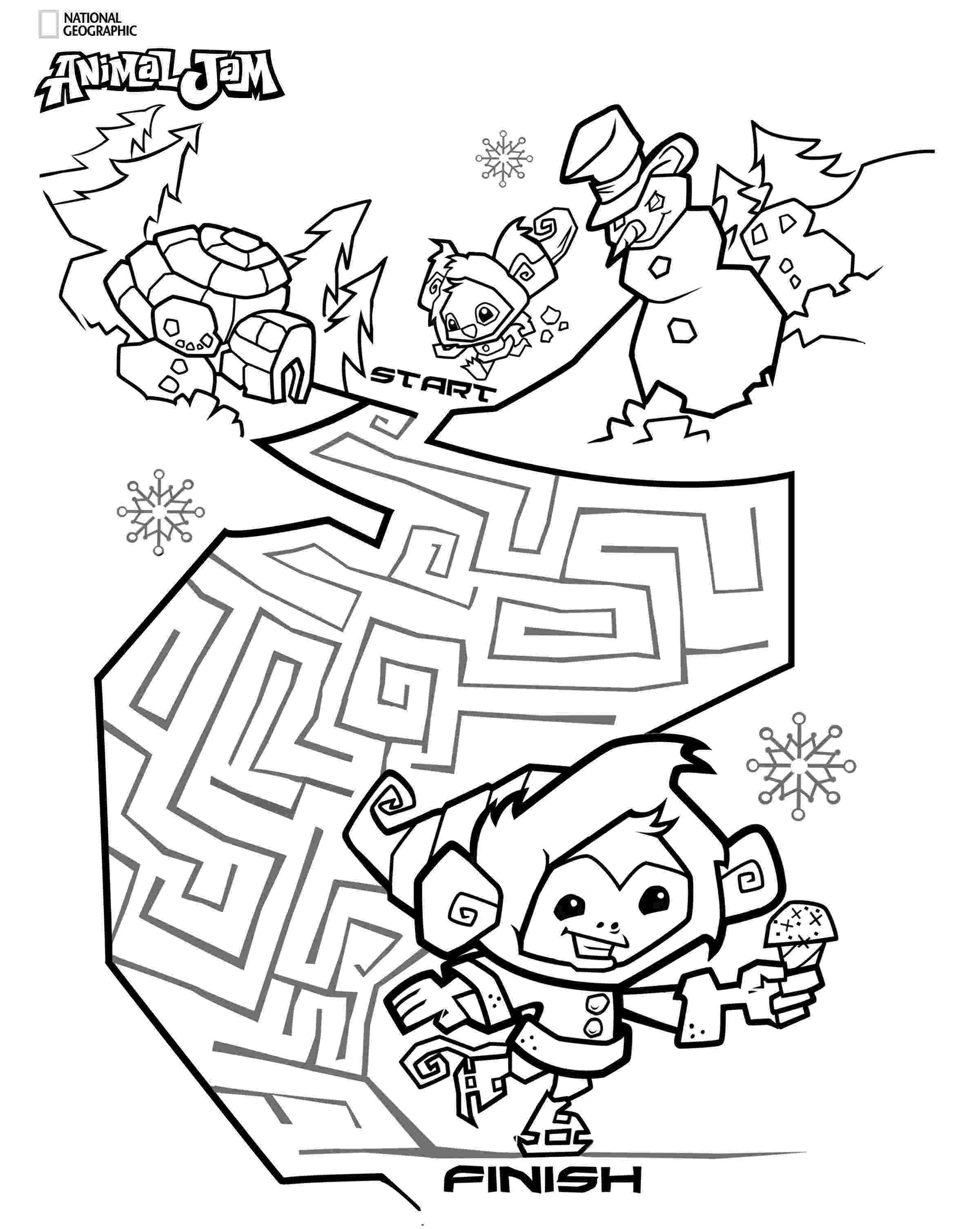 jam coloring pages dynamite animal jam 1 coloring jam pages