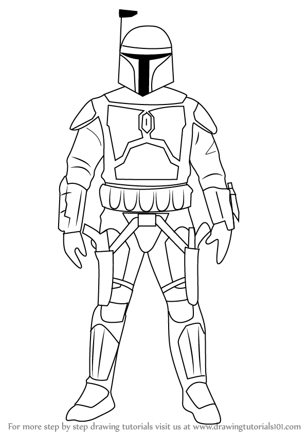 jango fett coloring pages learn how to draw jango fett from star wars star wars coloring fett jango pages