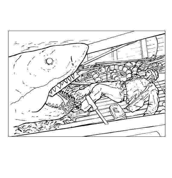 jaws coloring pages shark jaws adult coloring book by bengardnersboat on etsy pages coloring jaws
