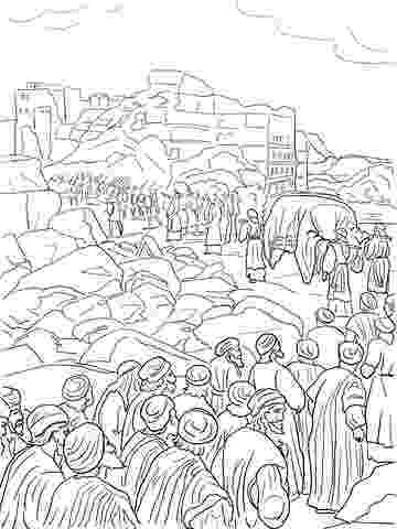 jericho walls coloring page joshua fought the battle of jericho coloring pages coloring page jericho walls