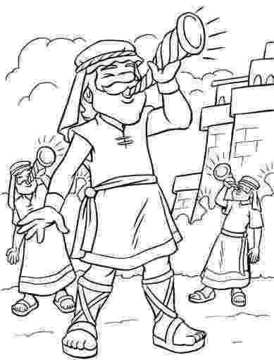 jericho walls coloring page seven priests blow their trumpets in jericho coloring page walls coloring jericho page