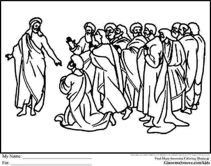 jesus and disciples coloring page jesus calling disciples clipart collection page and jesus disciples coloring