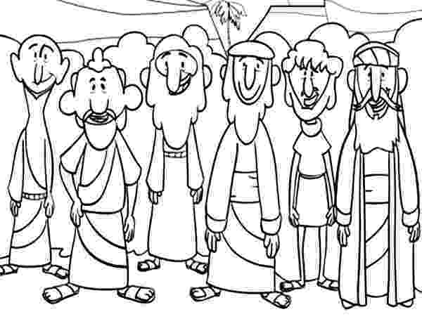 jesus and disciples coloring page jesus calling his disciples coloring pages at getcolorings disciples page coloring and jesus