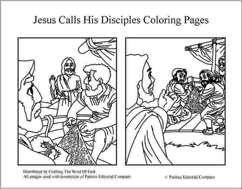 jesus and disciples coloring page jesus calls his disciples coloring pages crafting the jesus and coloring disciples page